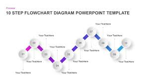 Workflow Chart Template Powerpoint 10 Step Flow Chart Diagram Template For Powerpoint And Keynote