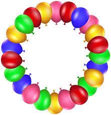 birthday balloons border clip art. Exellent Border Balloon Border Frame PNG Clip Art Throughout Birthday Balloons O