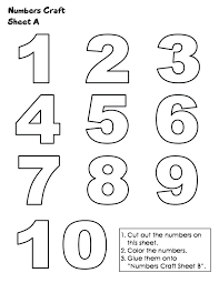 Number Coloring Pages 1 10 Coloring Numbers 1 Throughout Pages ...