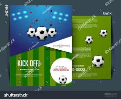 soccer team brochure template soccer football tournament championship game flyer stock vector