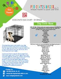 Dog Crate Size Chart Babies Inc By Dianne Duke Infographic