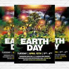 Earth Day Celebration Free Club And Party Flyer Psd