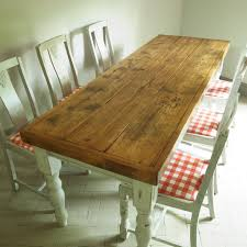 vintage french country pine farmhouse dining table 6 chairs rustic kitchen shabby chic