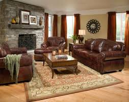 wall color for brown furniture. Stunning Glossy Brown Furniture With Peach Wall Color And Red Curtain For Traditional Living Room Decor