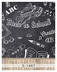 School Chalkboard Background Amazon Com 5x7ft Vinyl Digital Back To School Chalkboard
