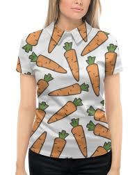 """Рубашка Поло с полной запечаткой """"<b>Морковки</b>"""" #2433768 от ..."""