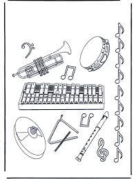 Muziekinstrumenten Kleurplaten Muziek