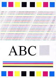 Inkjet Printer Colour Test Pagell L