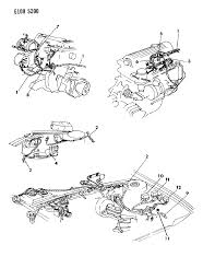 1986 chrysler lebaron gts wiring engine front end related parts diagram 000011h2