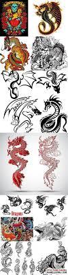 драконы рисунки для татуировок в векторе Dragon Tatoo портал