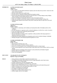 Landscaping Resume Landscape Resume Samples Velvet Jobs
