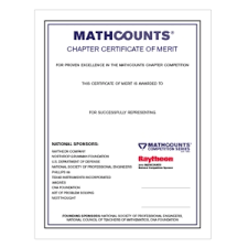 Csc Chapter Student Certificate Of Merit Mcawards Mathcounts Store