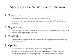 Narrative Essay Conclusion Examples Department Of English Literature Advice On Essay Writing For