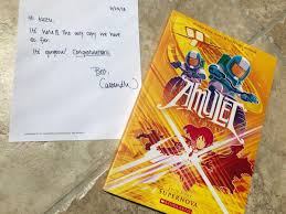kazu kibuishiverified account boltcity just received the first printed copy of amulet 8