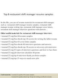 Shift Manager Resume Top224restaurantshiftmanagerresumesamples22450522424055245224lva224app62249224thumbnail24jpgcb=224243224522429246 18