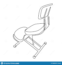 Kneeling Chair Design Plans Kneeling Chair For Good Posture Continuous One Line Drawing