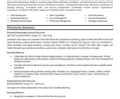 Senior Advertising Manager Sample Resume Account Cover Best
