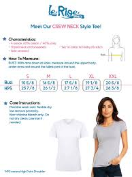 Female Neck Size Chart Lerage Ladies Crew Neck Size Chart Lerage Shirts