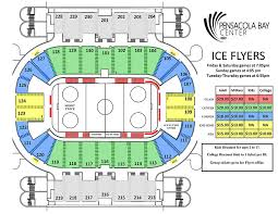 Flyers Seating Chart Ice Flyers Vs Fayetteville Fireantz Pensacola Bay Center