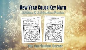 See more ideas about color by numbers, coloring pages, math coloring. New Year Color Key Math The Curriculum Corner 123