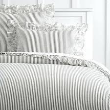 striped duvet cover queen the ruffle stripe duvet cover sham black and white striped duvet cover