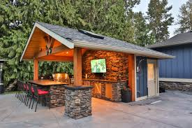 Year Round Outdoor Kitchen With Stainless Steel Appliances