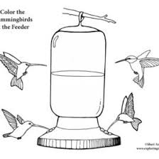 Small Picture Coloring Page Outline Of Cartoon Girl Feeding Birds Bird Feeder