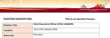 Naccho Aboriginal Health #accho Job Opportunities Inc Ceo @ahmrc ...