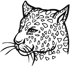 Free Leopard Coloring Pages
