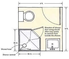 6x6 Bathroom Layout  Google Search  Pinterest