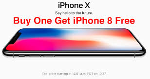 iphone x one get iphone 8 free