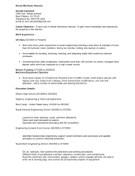 Professional Diesel Mechanic Resume