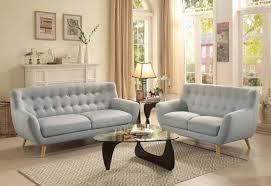 modern fabric sofa set. Homelegance 8312 Anke Mid-Century Modern Tuft Light Grey Fabric Sofa Set 2Pcs Reviews-
