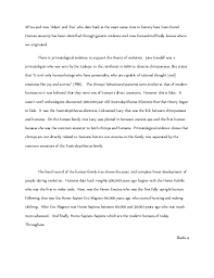 evolution essay anthropology grade   3