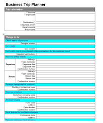 Business Trip Planner Give 2 Business Trip Planner Checklist Templates As Shown By Aussie007