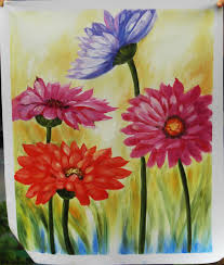 Small Picture Beautiful Flower Designs Fabric Painting Wall Art Picture Oil