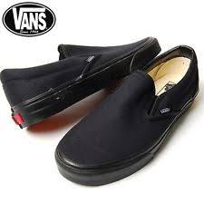 vans shoes black on black. vans slip on black skateboarding mens womens shoes sneakers size 4.5-12 k