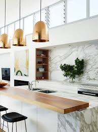 Copper Kitchen Lights 48 Marble Kitchens That Are Beyond Gorgeous Copper Islands And
