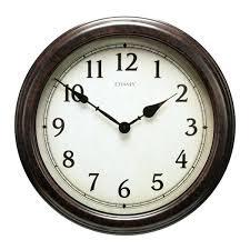chaney wall clock inch large black clock kohls chaney weathered wall clock