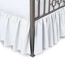 california king bed skirt. Brilliant Bed Harmony Lane Ruffled Bed Skirt With Split Corners  Cal King White 21 Inch With California King E