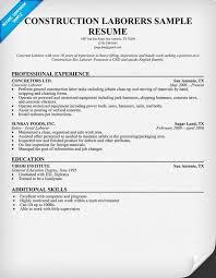 Resume Sample Of A Construction Worker | Killer Resume
