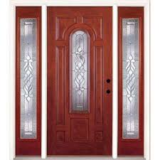 67 5 in x81 625in lakewood zinc center arch lt stained cherry mahogany lt
