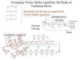 averaging navier stokes equations for study of turbulent flows