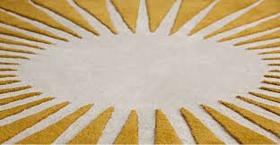 awesome yellow round rug mustard circular wool tufted vaserely m a d e com uk for nursery area bathroom