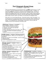 the essay burger fill online printable fillable blank pdffiller the essay burger