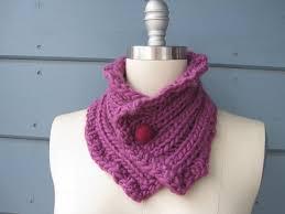 Felted Wool Designs Finch Neck Warmer Head Scarf With Fuchsia Felted Wool