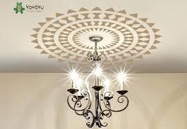 big size choose ceiling medallion decal modern ethnic decor removable art vil lamp chandelier wall sticker chandelier wall decor