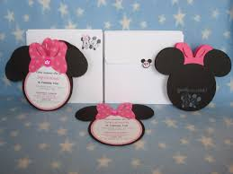 creative trendz design minnie mouse birthday invitation wisefo