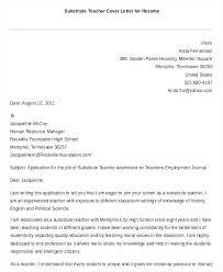 Cover Letter Sample Education Substitute Teacher Cover Letters