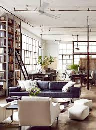 Living Room: Industrial Living Room With Brick Wall Accents - Industrial  Style